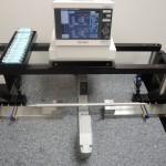 Keyence 7030 laser micrometer with custom bridge