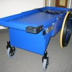 Cart in retracted position
