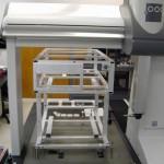 Large welded frame beimg measured on CMM