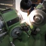 closeup shot of a precision grinder