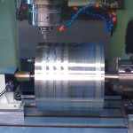 4th axis milling of sine wave pattern on large drum