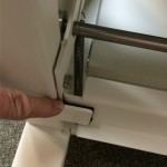 internal foot operated latch