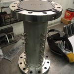 stainless tube with welded flanges and fittings