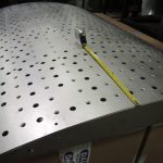 curved panel w/ holes and countersinks
